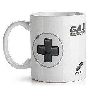 Caneca de Cerâmica 325ml Gamer Needs Coffee Yaay! CAN084