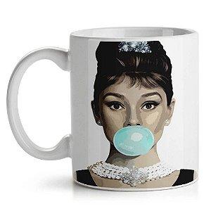 Caneca de Cerâmica 325ml Audrey Hepburn Yaay! CAN128