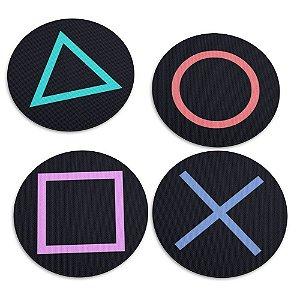 Jogo de Porta Copos 4 Peças Botões Controle PS Yaay! PCP002