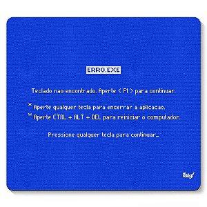 Mouse Pad BSOD Teclado Não Encontrado 23x20cm Yaay! PAD014