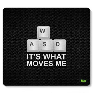 Mouse Pad PC Gamer WASD 23x20cm Yaay! PAD040