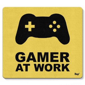 Mouse Pad Gamer at Work 23x20cm Yaay! PAD029