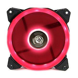 Cooler Fan 120mm 12cm Ventoinha LED Vermelho Hoopson CL-120V