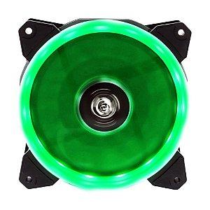 Cooler Fan 120mm 12cm Ventoinha LED Verde Hoopson CL-120D