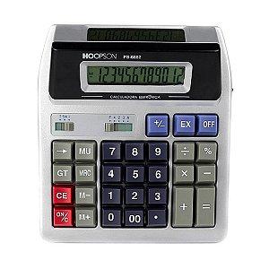 Calculadora de Mesa 12 Dígitos Visor Duplo Hoopson PS-6882
