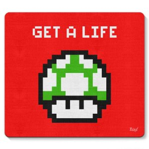 Mouse Pad Pixel Get a Life 23x20cm Yaay! PAD035