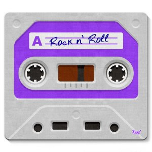 Mouse Pad Fita Cassete Rock'n'Roll 23x20cm Yaay! PAD049