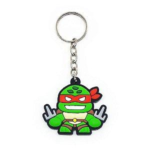 Chaveiro Emborrachado Tartaruga Raphael Yaay! KEY056