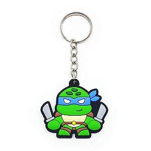 Chaveiro Emborrachado Tartaruga Leonardo Yaay! KEY055