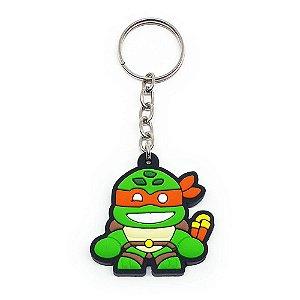 Chaveiro Emborrachado Tartaruga Michelangelo Yaay! KEY057