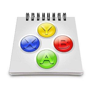 Bloco de Anotações 60 Folhas Gamer Controle XB Yaay! BLO034
