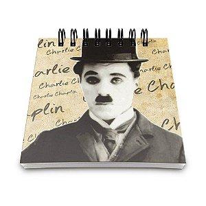 Bloco de Anotações 60 Folhas Charlie Chaplin Yaay! BLO042