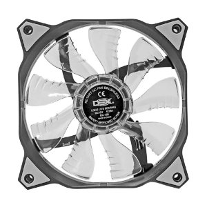 Cooler Fan 120mm 12cm Ventoinha LED Branco Dex DX-12B