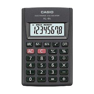 Calculadora de Bolso 8 Dígitos Preta Casio HL-4A