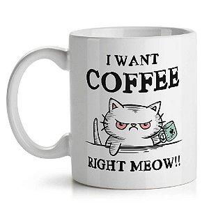Caneca de Cerâmica 325ml Coffee Right Meow Yaay! CAN092