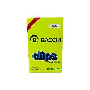 Clips para Papel Aço Galvanizado 8/0 c/ 25 Un Bacchi 0910-4