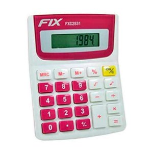 Calculadora de Mesa 8 Dígitos Rosa Fix FXC2531