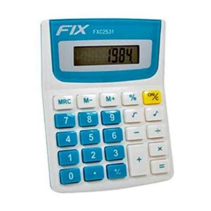 Calculadora de Mesa 8 Dígitos Verde Fix FXC2531