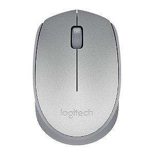 Mouse Óptico Sem Fio 1000 DPI Prata Logitech M170