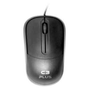 Mouse Óptico USB 1000 DPI Preto C3Tech MS-35BK