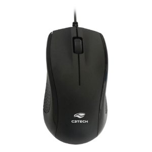 Mouse Óptico USB 1000 DPI Preto C3Tech MS-25BK
