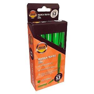 Caixa c/ 12 Canetas Marca Texto Slim Verdes Jocar 96092