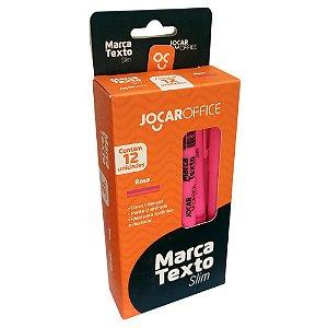Caixa c/ 12 Canetas Marca Texto Slim Rosa Jocar 96091