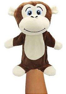 Fantoche Marionete De Pelúcia Macaco Safari - Unik Toys - Lovely Puppets