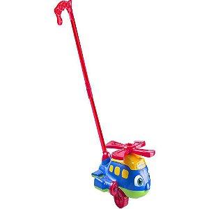 Helicoptero brinquedo pedagogico de empurrar aviao educativo empurre e puxa push plane - Gimp