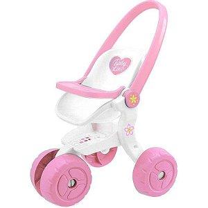 Carrinho de boneca baby love - 278 - Usual Brinquedos