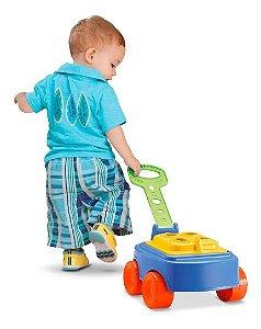 Brinquedo Didatico Cardoso Toys Baby Land Mipuxa Azul