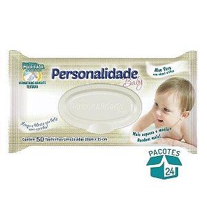 Toalhinhas Umedecido Personalidade Baby C/50 unidades