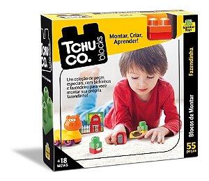Tchuco Blocks Fazendinha Com 52 Peças - SambaToys