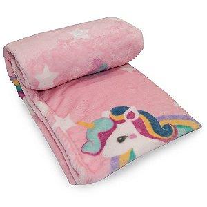Cobertor- Prime Baby Flannel Toque De Seda Unicórnio
