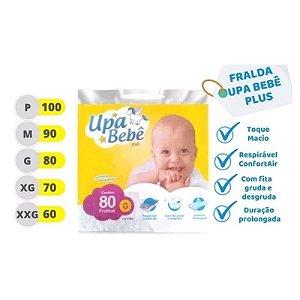 FRALDA DESCARTÁVEL UPA BEBÊ PLUS G 80 unidades