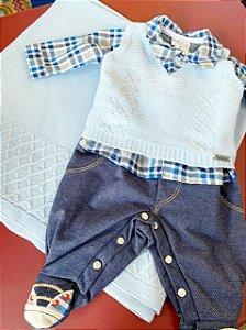 Saída de Maternidade Fofinho Masculina Jeremias Azul