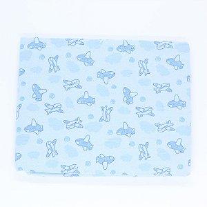 Cobertor Carícia Baby Infantil Bichinhos Azul ou Rosa