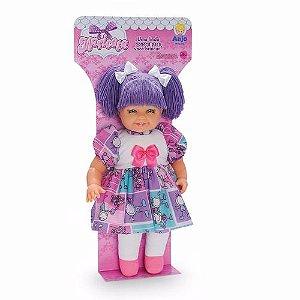 Coleção Boneca Maricota Lilás Brinquedos Anjo Menina