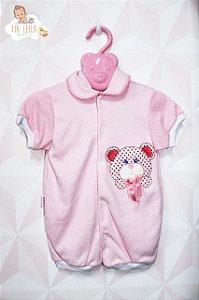 Macacão Curto Rosa - Sonekinha Baby - TAM G