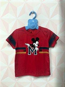 Camisa vermelha Mickey - Disney - TAM 3
