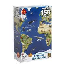 Quebra-cabeça 150 Peças Puzzle Animais do Mundo - Grow