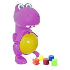Brinquedo Educativo Criança Infantil Dino Didático + 5 Blocos Interativos