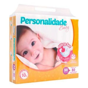 Fralda Descartável Infantil Personalidade Ultra Sec M C/80