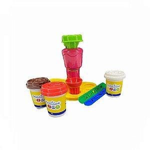 Massinha De Modelar Sorveteria Feliz Brinquedo Criança Diversão - Batiki
