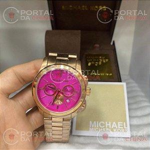 Relógio Feminino Michael Kors MK5909 Bailey Pink Gold