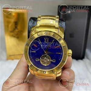 Relógio Bvlgari Turbilion Fundo Azul