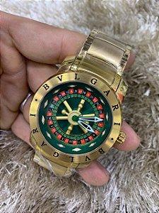 Bvlgari Casino - Dourado Com Fundo Verde