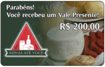 Vale Presente R$ 200
