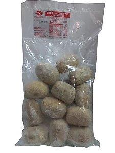 Bolinho de Abóbora Cabotiá c/ Carne Seca e Alho Poró (480 Gr) c/ 12 Unids