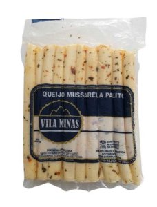 Queijo Mussarela Palito Temperado Vila Minas (Peso médio 0,300 Gr)